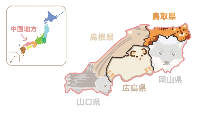 隣接県クイズ中国地方
