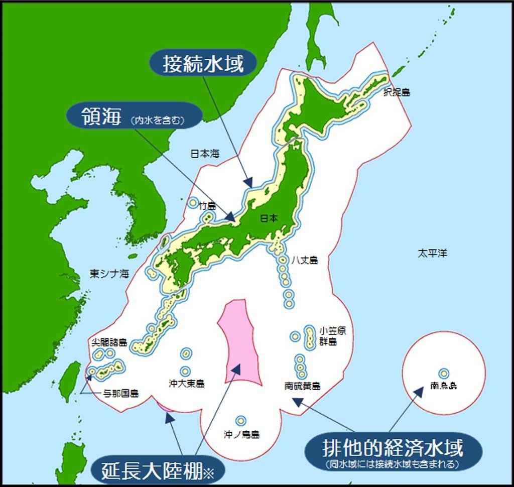 日本の領海概念地図