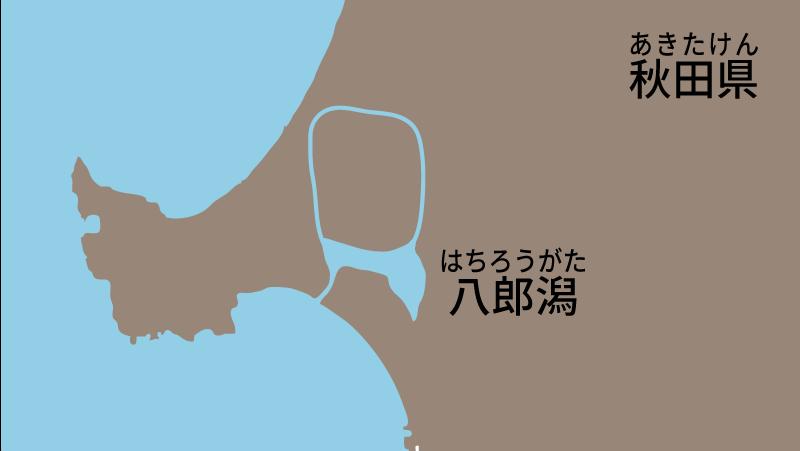 妖怪-秋田県-八郎潟