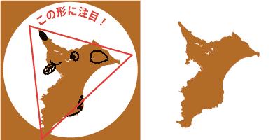 千葉県の形