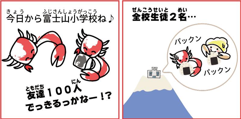 静岡県と山梨県の富士山