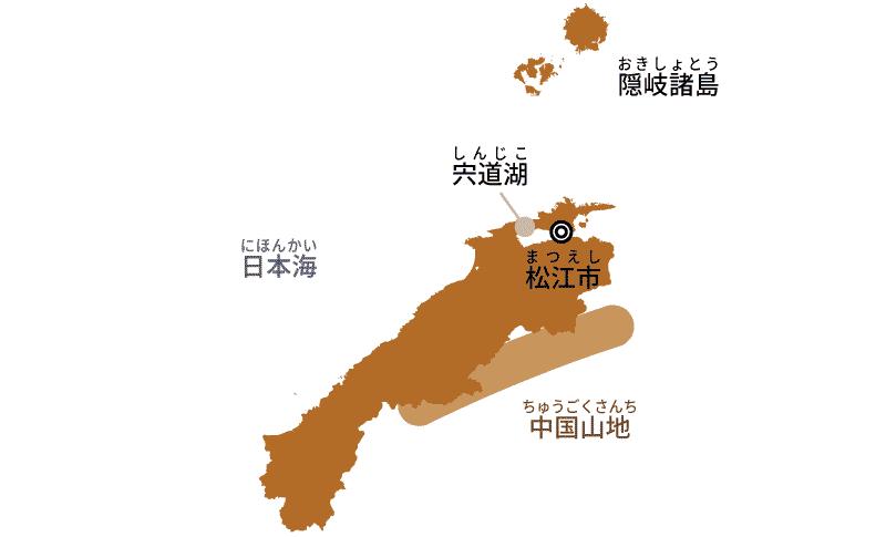 島根県の地図