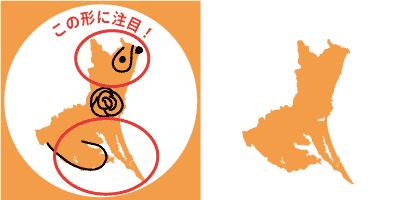 茨城県の形