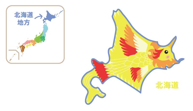 北海道地方キャラクター地図