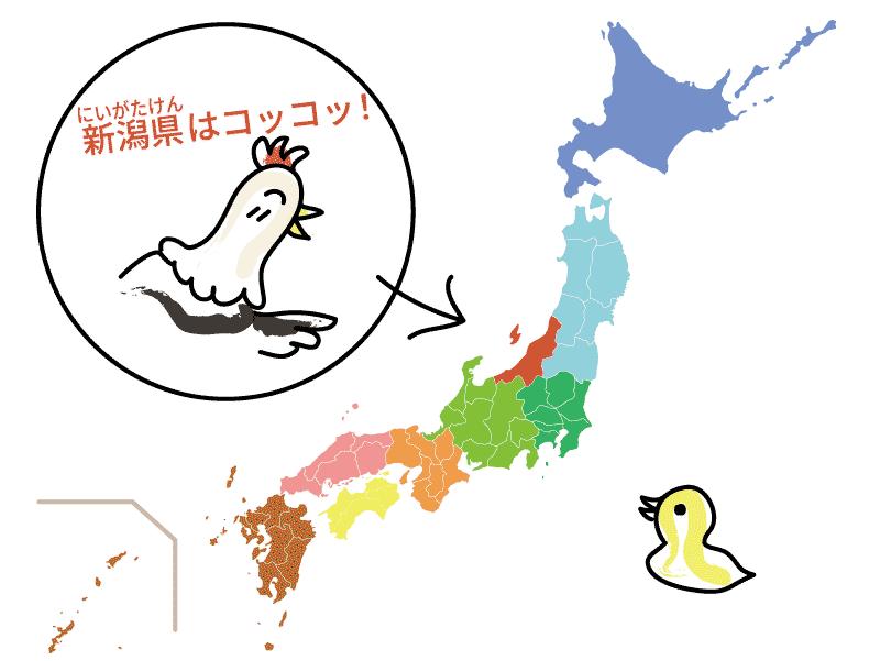 新潟県の位置