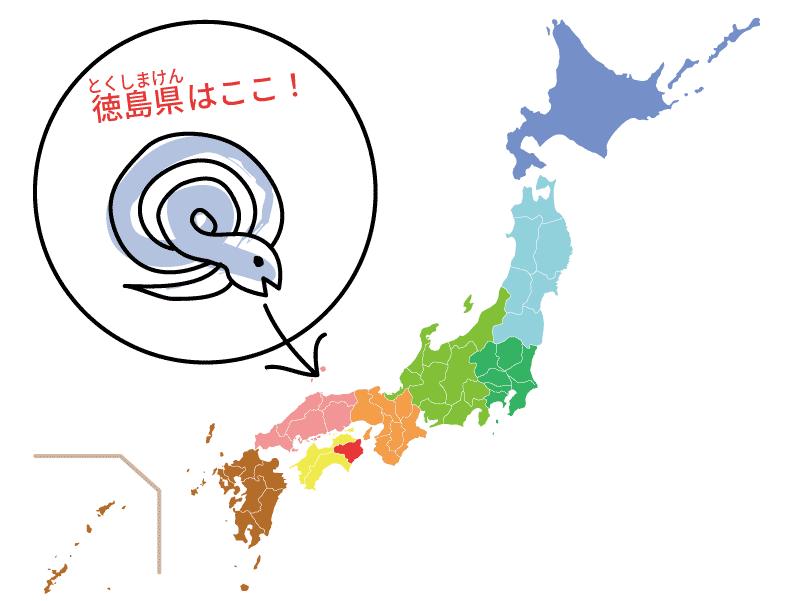 徳島県の位置