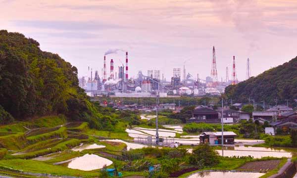 岡山県の水島地区